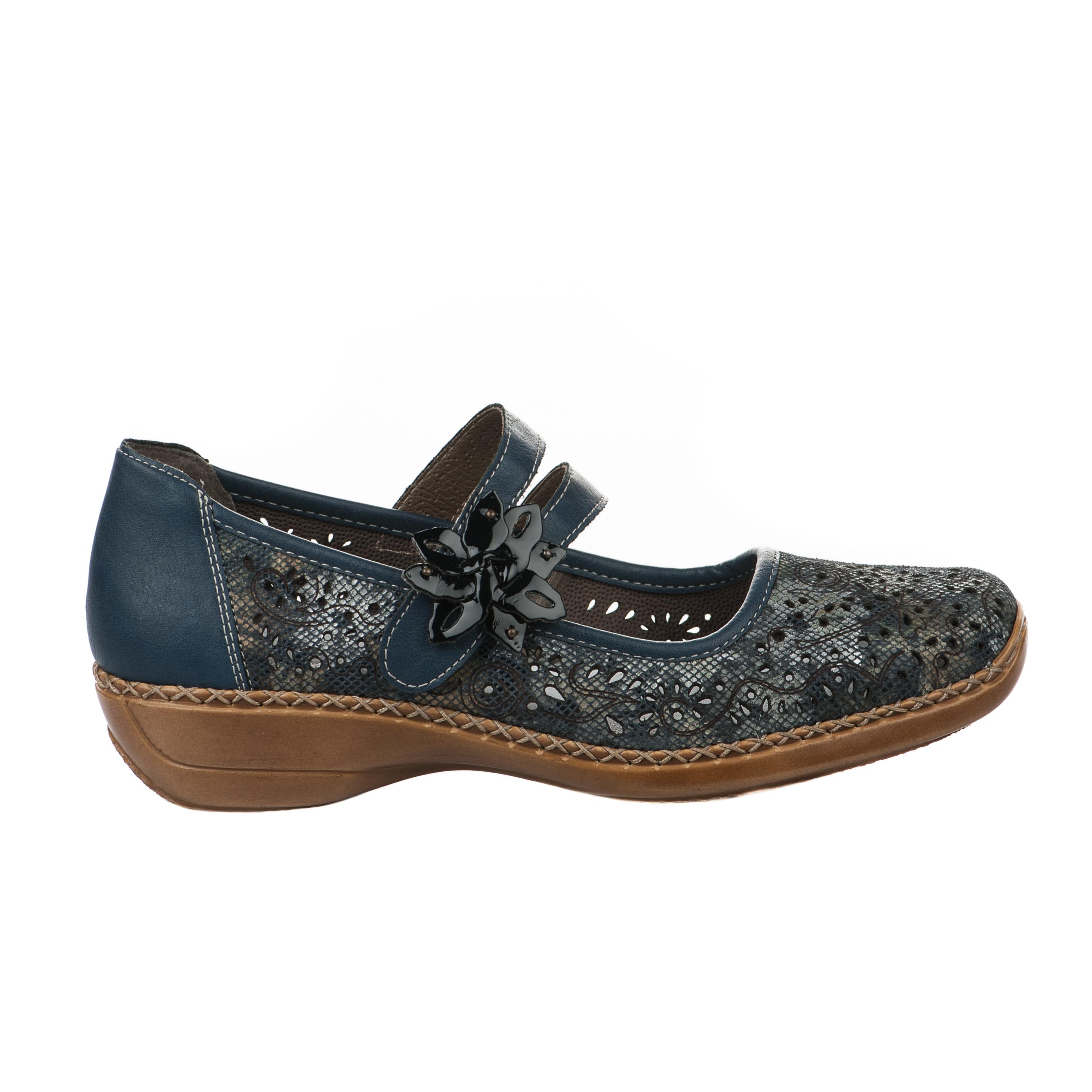 Chaussures de confort femme - rieker - bleu
